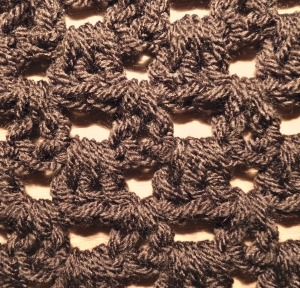 Example of stitch pattern