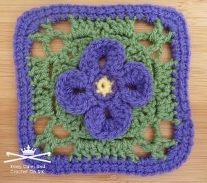 Shy Violet Afghan Square