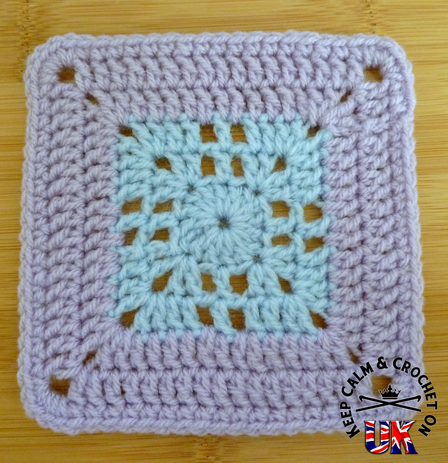 Crochet Cross Afghan Pattern Free : Free Pattern ? Mini Filet Cross Afghan Square Keep Calm ...