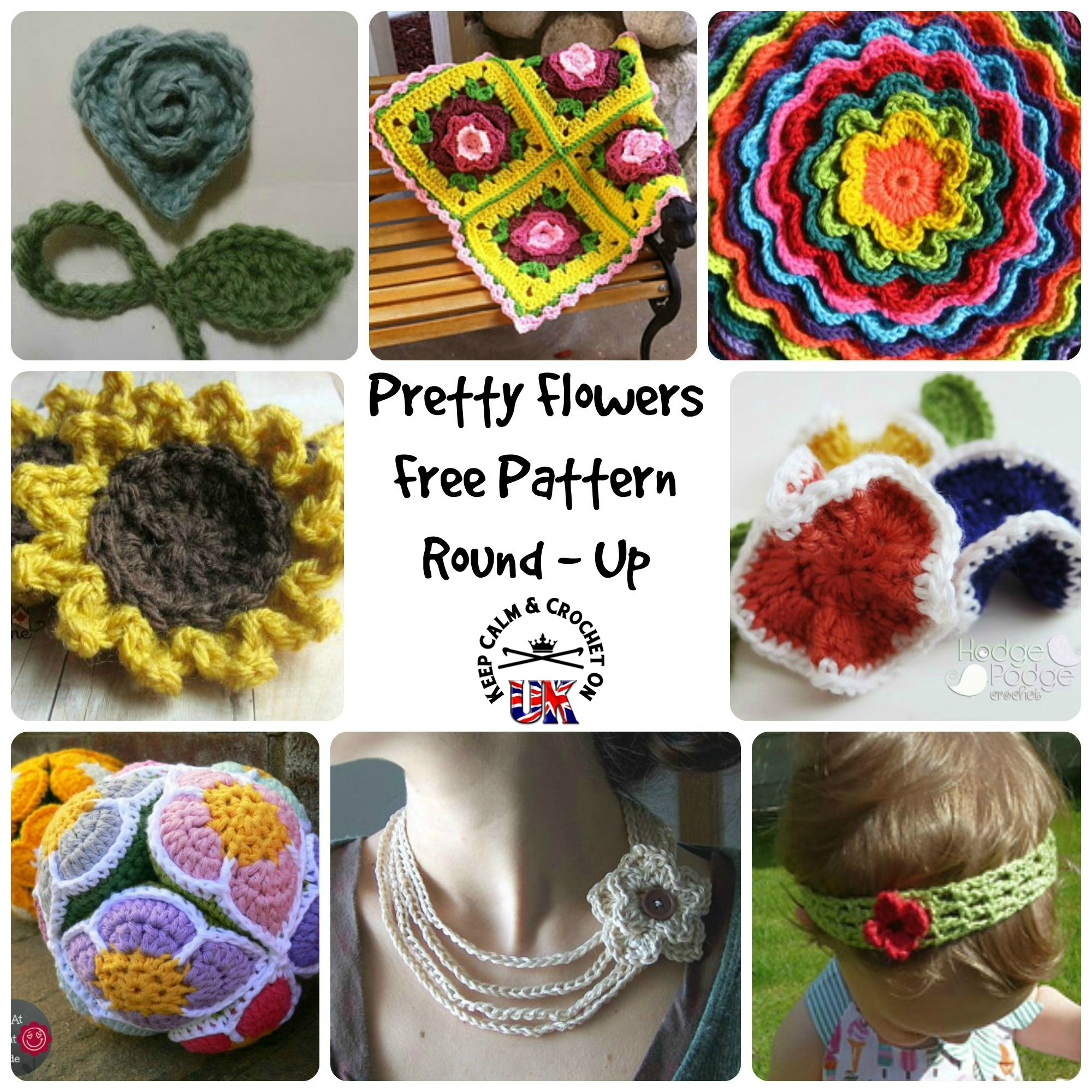 All The Pretty Flowers Free Pattern Round Up Keep Calm And