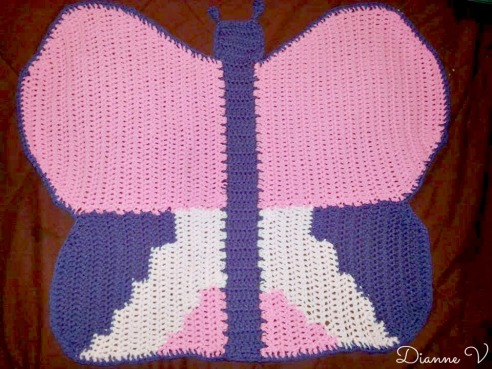 Butterfly Baby Blanket Knitting Pattern : BUTTERFLY BABY BLANKET PATTERN Free Baby Patterns