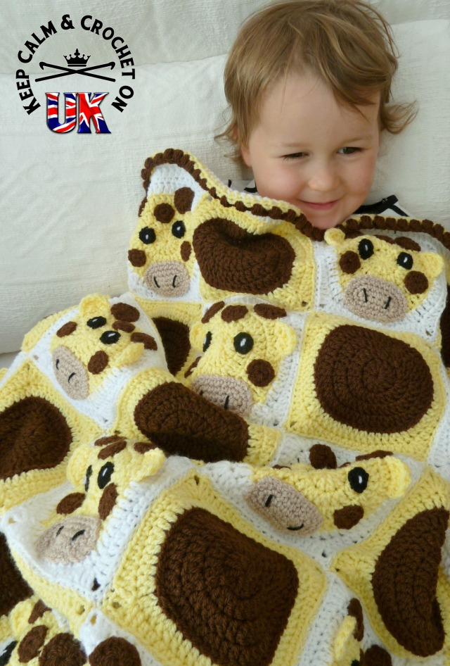 Pattern Release Spot The Giraffe Blanket Keep Calm And
