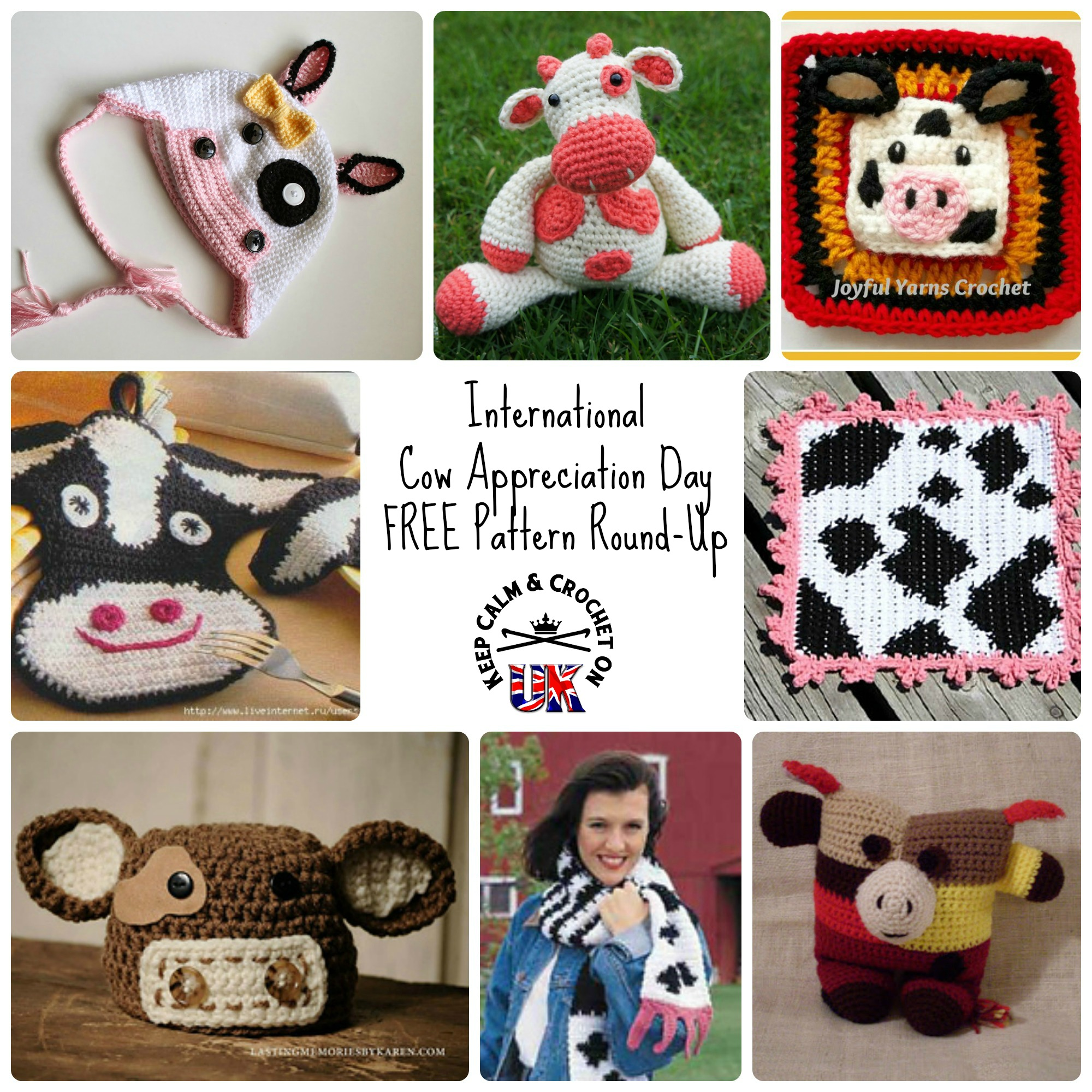 International Cow Appreciation Day! Free Pattern Round Up! | Keep ...