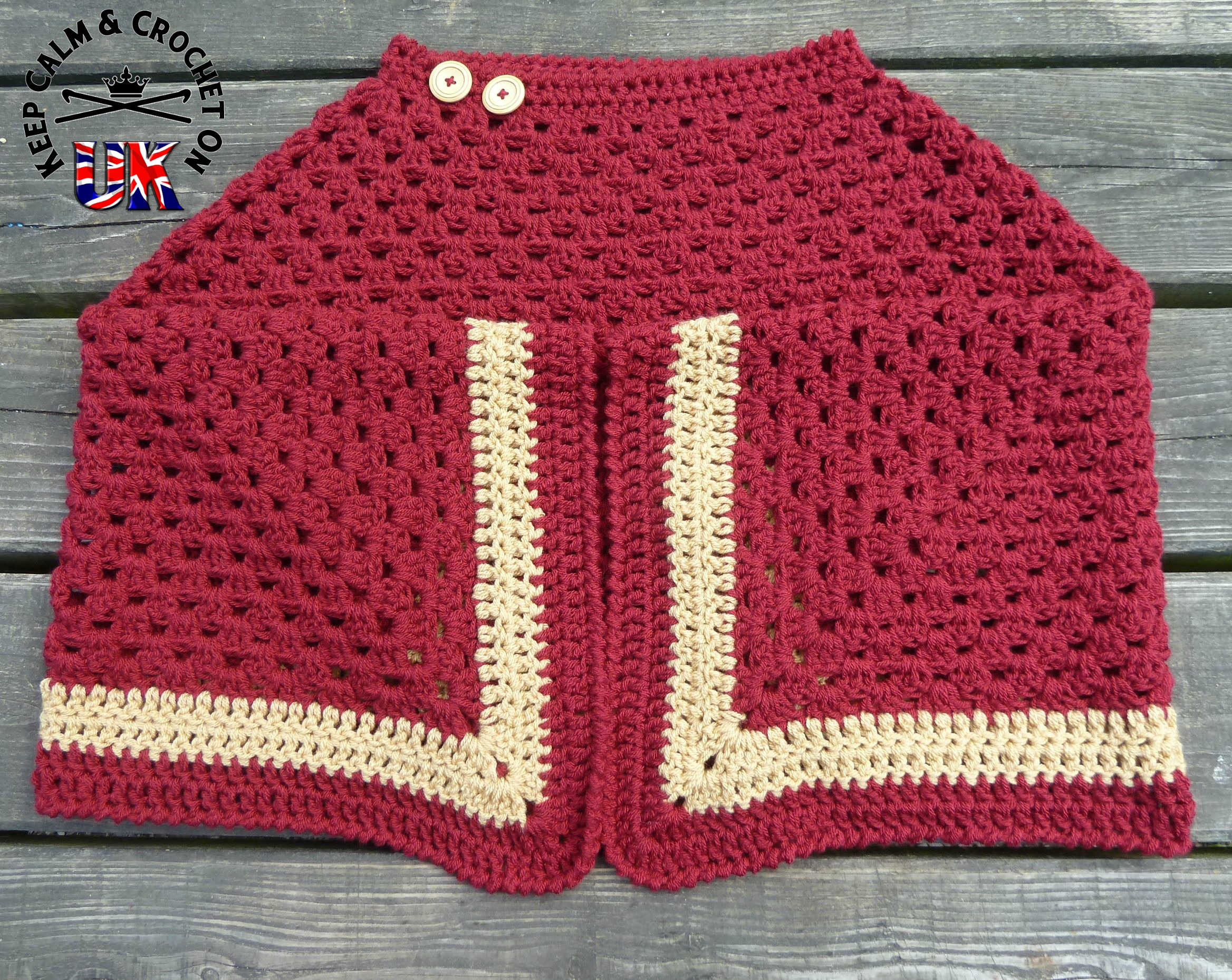 Kimono-so-Cosy Adult Poncho – Free Pattern | Keep Calm and Crochet ...