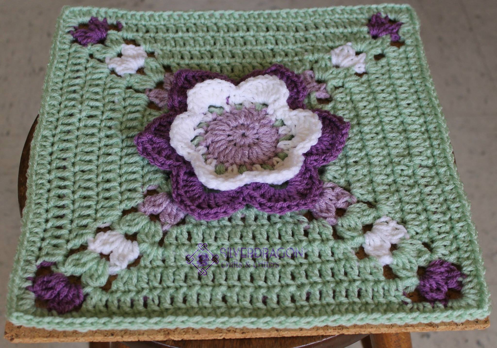 Afghan Square Keep Calm and Crochet On U.K