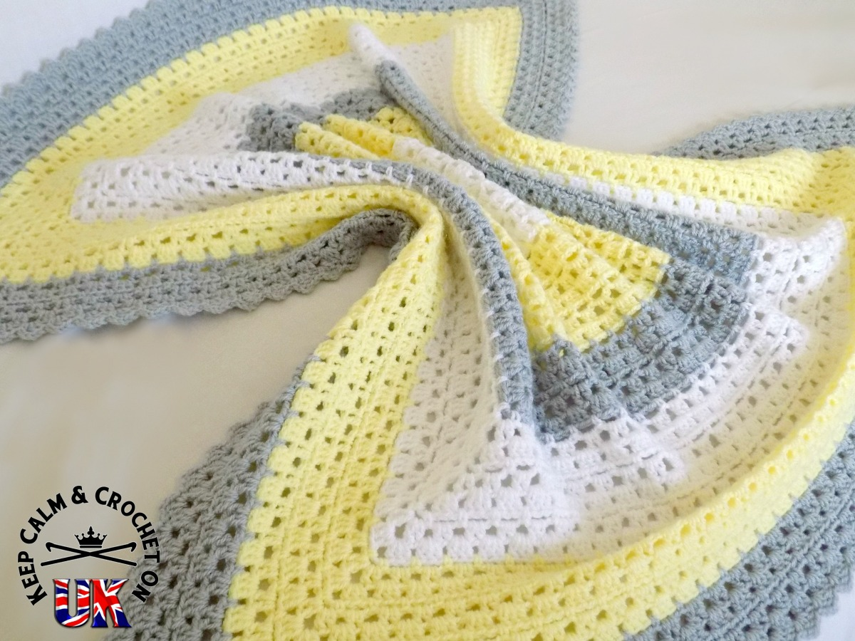 Free Pattern Superbly Simple Baby Blanket Keep Calm