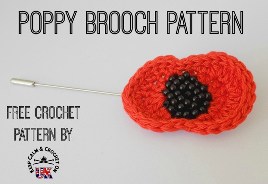 Poppy Brooch Free Crochet Pattern Keep Calm And Crochet On Uk