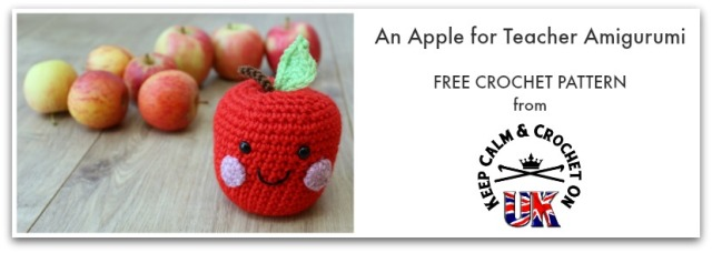 Apple For Teacher Amigurumi Free Crochet Pattern Keep Calm And