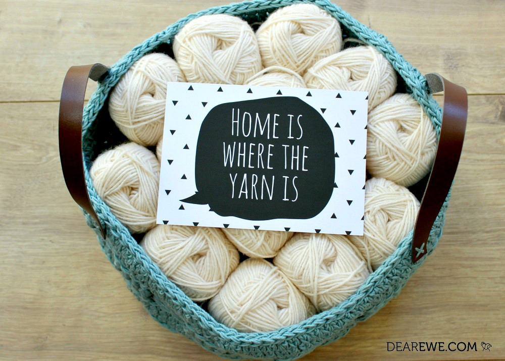 Dear Ewe creative prop cards - home is where the yarn is!