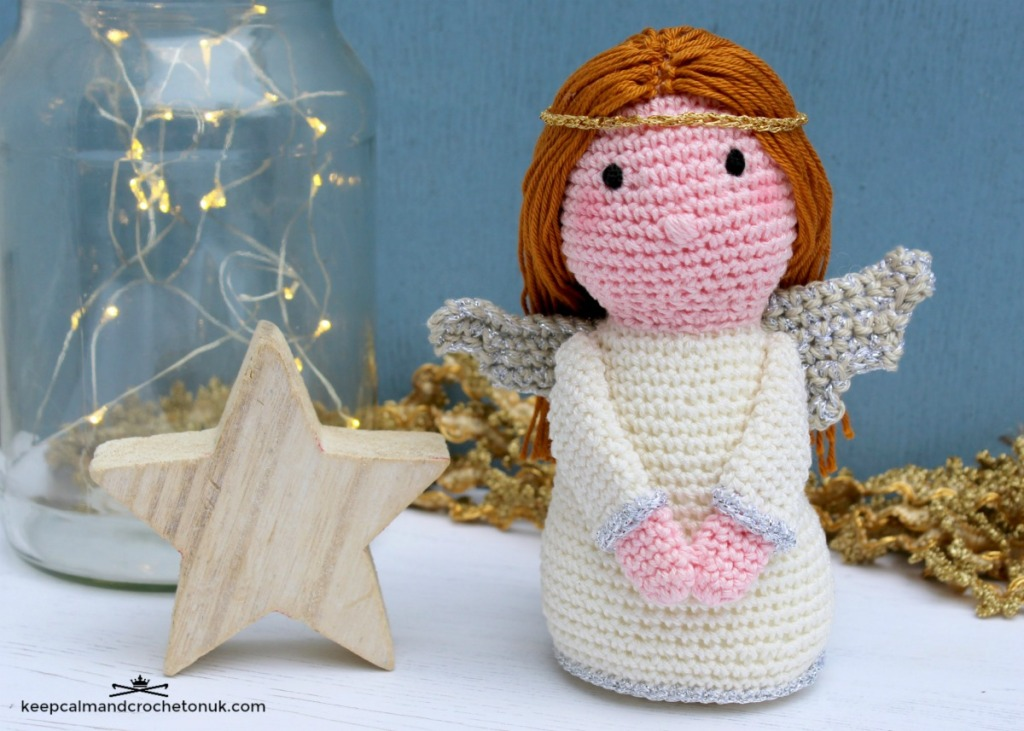 Crocheted Angel made with Anchor yarns
